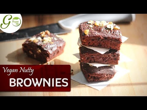 DELICIOUS DESSERT l VEGAN NUTTY CHOCOLATE BROWNIES l QUICK & EASY