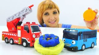 Про машинки и автобус Тайо 🚌 ДЕТСКий САД #КапукиКануки  17 👈 Игры с машинками / Видео для детей