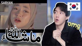 Korean Muslim reacts to SABYAN - AISYAH ISTRI RASULULLAH COVER
