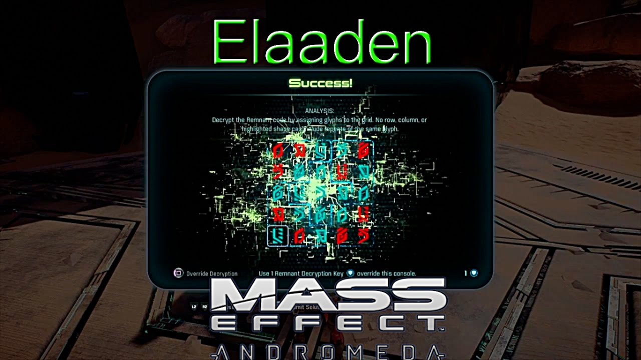 Remnant Decryption Elaaden Mass Effect Andromeda