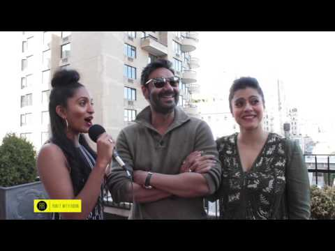 "Director, Producer & Actor Ajay Devgn & Bollywood Icon Kajol visit NYC to promote film ""Shivaay"""