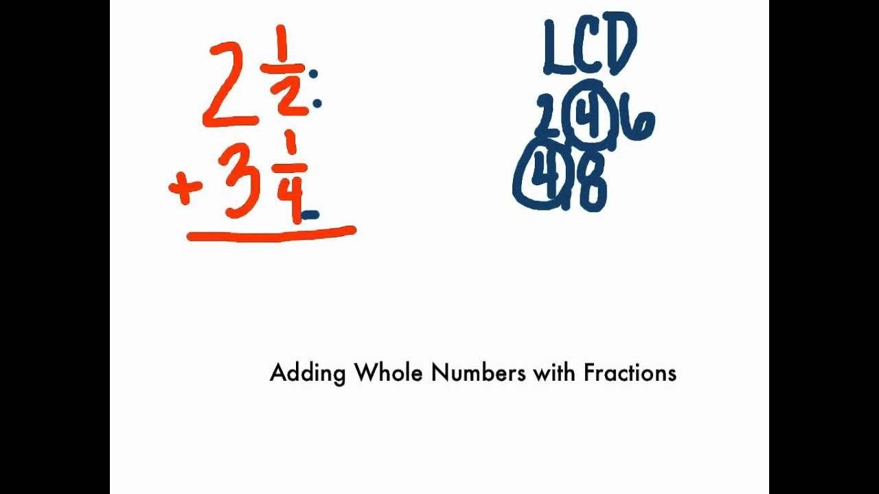 how to work out fractions from a whole number