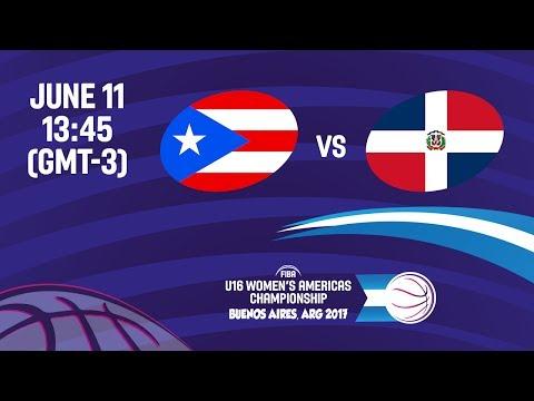 Puerto Rico vs Dominican Republic - 7th Place - FIBA U16 Women