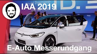 IAA 2019 - alles elektrisch! - mein E-Auto Messerundgang mit VW I.D3, Porsche Taycan, Honda e ...