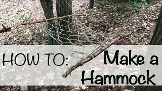 How to Make a Hammock with Sticks and String