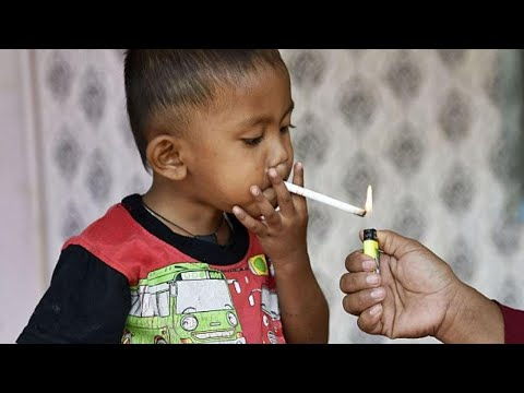 Toddler Chain-Smokes Through 2 Packs of Cigarettes a Day