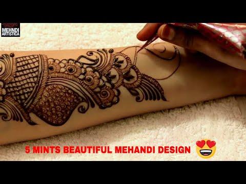 Learn Full Hand Arabic Mehandi Design | 5 मिंट में एल्बो तक अरबिक मेहँदी लगाए(डिज़ाइनर हिना मेहन्दी) thumbnail