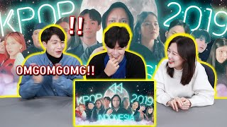 [NEW!!] REAKSI ORANG KOREA NONTON K-POP REWIND INDONESIA 2019!! 🇲🇨🇰🇷 | Korean Reaction