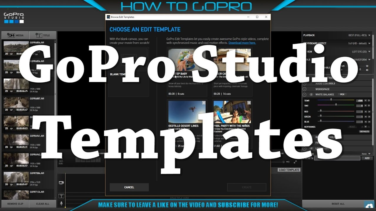 How to make awesome gopro video easily gopro studio for How to use gopro studio templates