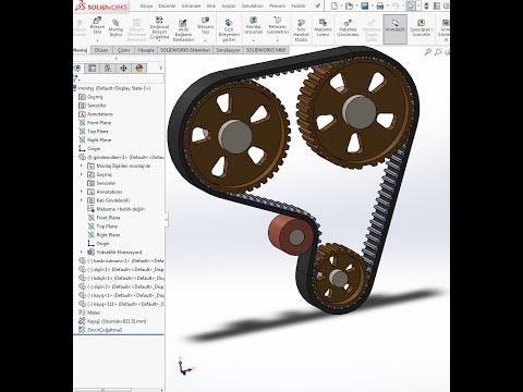 Solidworks Triger Seti Tasarımı Timing Set Design