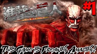THIS GAME IS FREAKING AMAZING! | Attack on Titan Wings of Freedom (PS4 Gameplay) - Episode 1