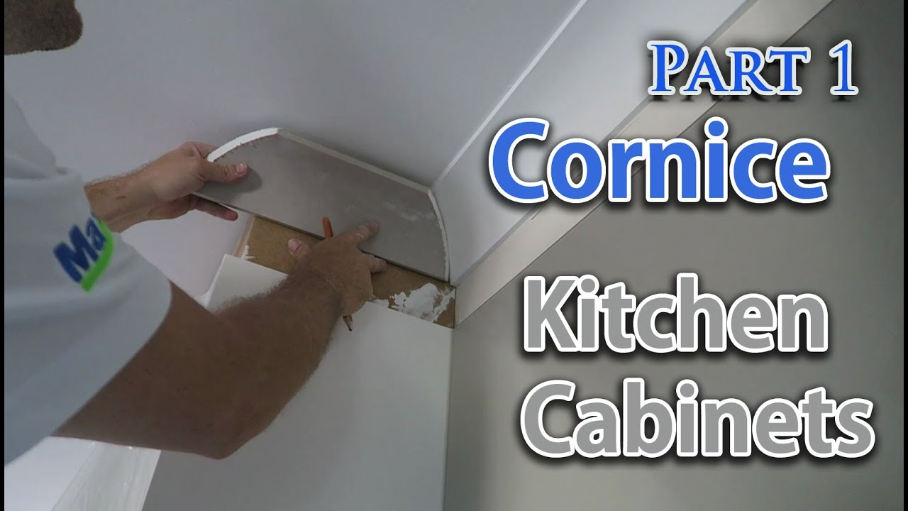 old kitchen cabinets for sale outdoor kitchens designs install cornice above cupboards - youtube