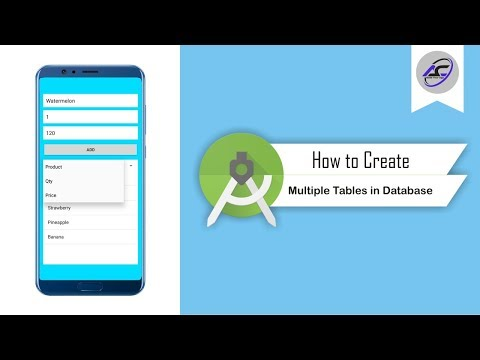 How To Create Multiple Tables In SQL Lite Database In Android Studio | MultiTables | Android Coding