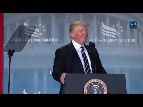 President Trump Gives Remarks at Faith and Freedom Coalition's Road to Majority Conference