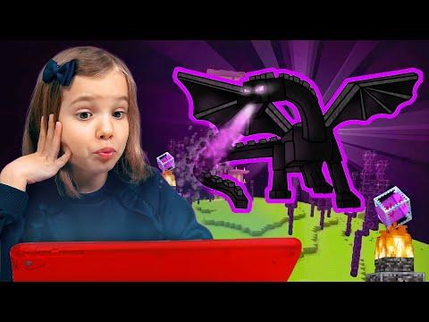 Побеждаем Эндер Дракона в Minecraft