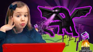 видео: Побеждаем Эндер Дракона в Minecraft