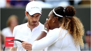 Serena Williams and Andy Murray mixed doubles run comes to an end | 2019 Wimbledon Highlights