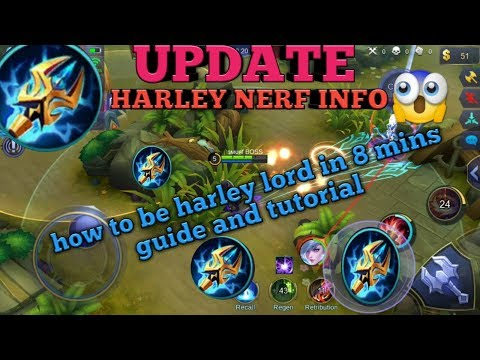 HARLEY LORD | HARLEY TOP 1 BUILD | HARLEY GUIDE AND TUTORIAL | MOBILE LEGENDS HARLEY