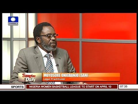 Onigbanjo Berates Senate,Questions Rationale Behind Ndume's Suspension Pt 1