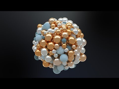 C4D Abstract Spheres - Cinema 4D Tutorial (Free Project)