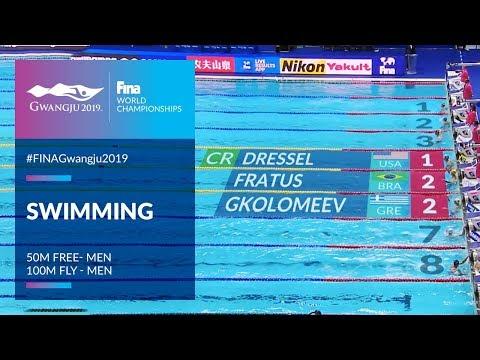 Swimming Men - 50m Free & 100m Fly   Top Moments   FINA World Championships 2019 - Gwangju