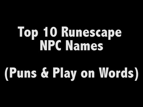 Top 10 Runescape NPC Names