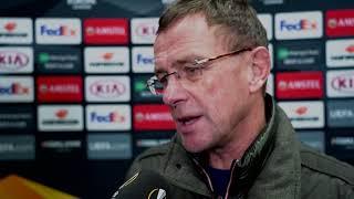 Ralf Rangnick im Interview mit DAZN vor Leipzig vs Trondheim