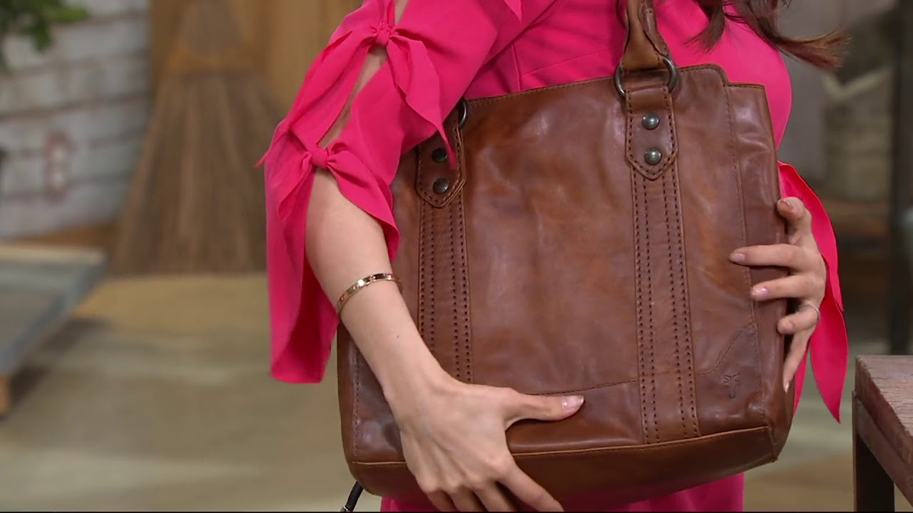 142dd5692d Frye Leather Melissa Tote on QVC - YouTube