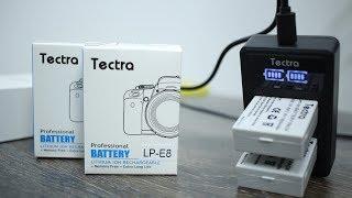 Tectra LP-E8 Li-ion батарейки + 2-ая USB зарядка для Canon EOS 650D ► Посылка из Китая / AliExpress