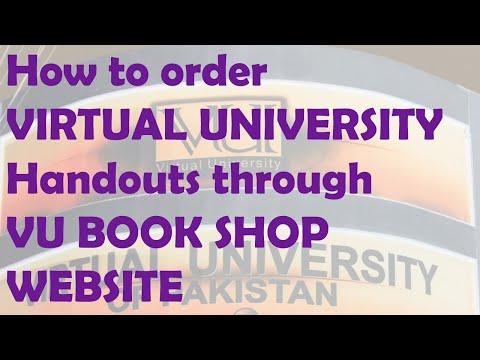 How to order VIRTUAL UNIVERSITY Handouts through VU BOOK SHOP WEBSITE
