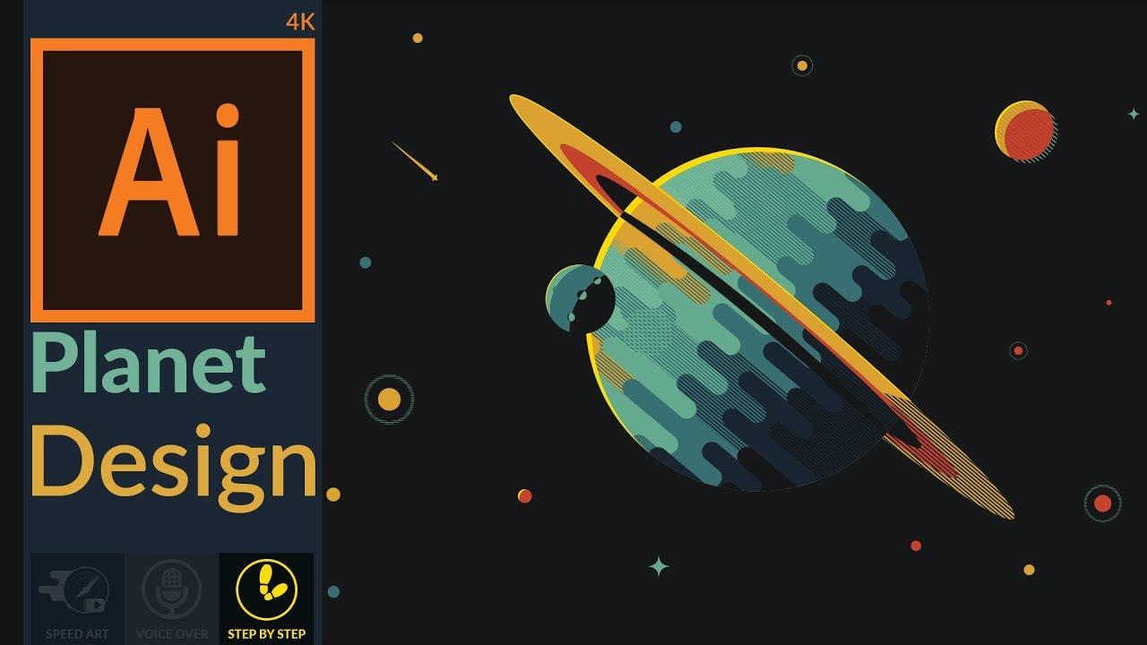 designing a fantasy planet in adobe illustrator cc flat design youtube labrador vektor lkw