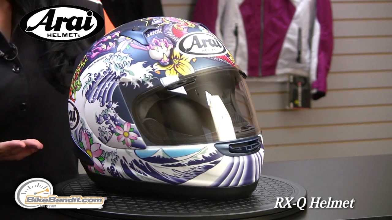 Arai RX-Q Full Face Motorcycle Helmet at BikeBandit.com - YouTube e8bcf2d8496