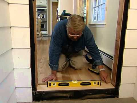 How to install a fiberglass entry door youtube - How to install a prehung exterior door ...