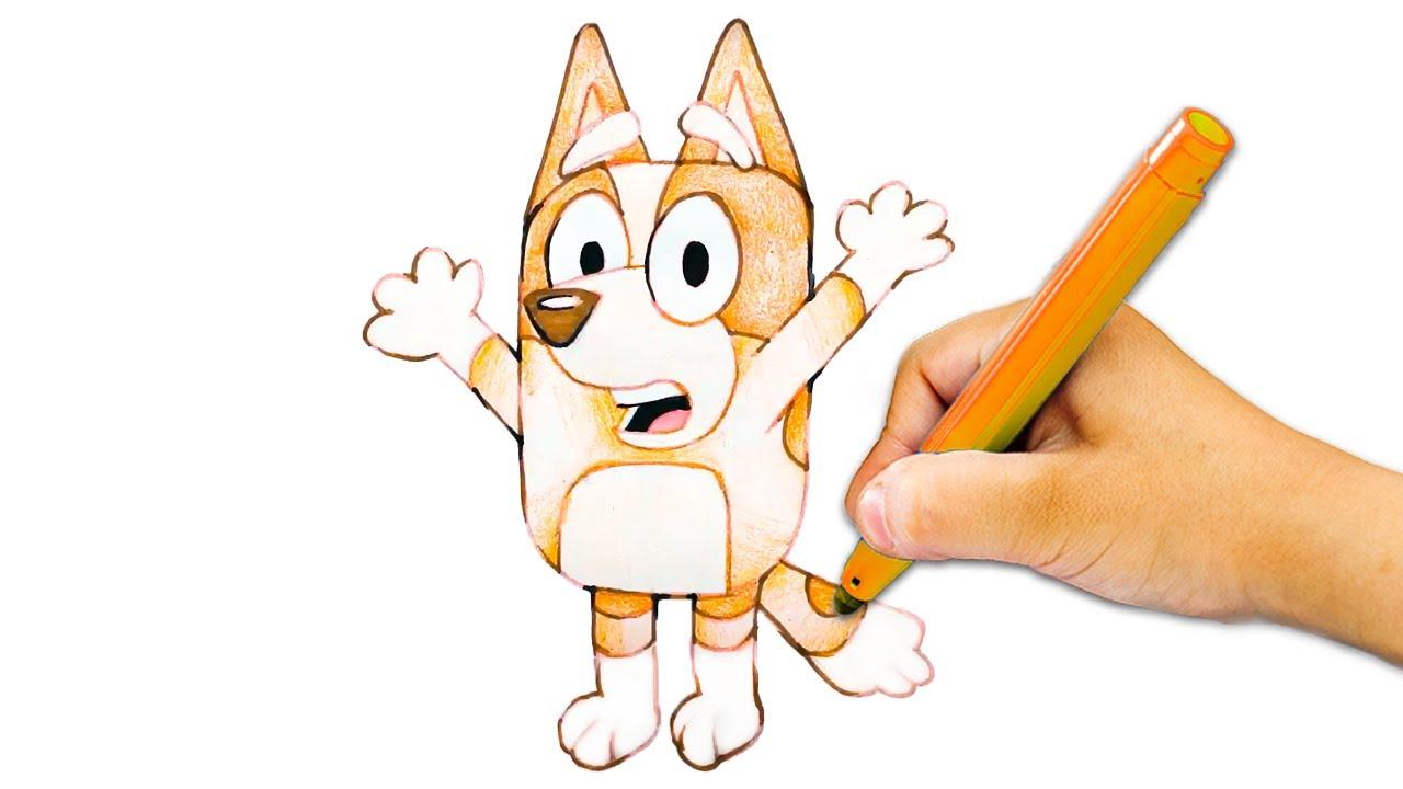 Learn to Draw Bingo from Bluey | Drawing for Kids | Pocket Preschool