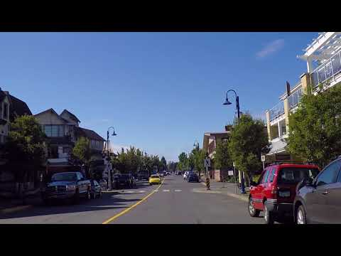 Driving to Downtown Comox BC Canada - Vancouver Island Small Town