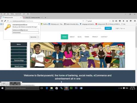 How to sign up at our online bartering and advertising platform - tutorial video