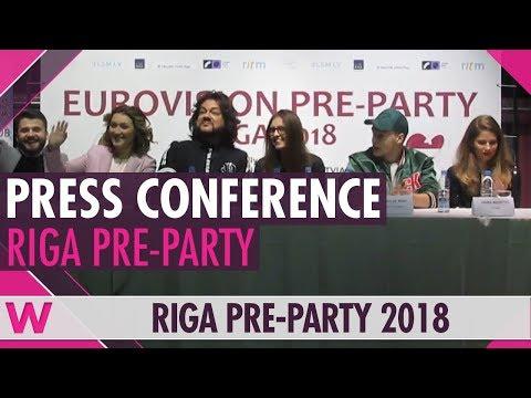 Eurovision Pre-Party Riga 2018: Press conference
