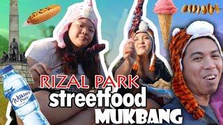RIZAL PARK (street food MUKBANG!)
