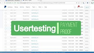 Usertesting Payment Proof - Make $30 An Hour For Your Feedback on Websites, Apps, Etc