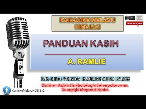 A. Ramlie - Panduan Kasih | Karaoke Minus One | Lirik Video HD