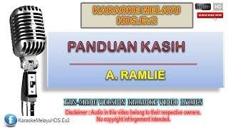 A. Ramlie - Panduan Kasih | Karaoke Minus One | Lirik Video HD