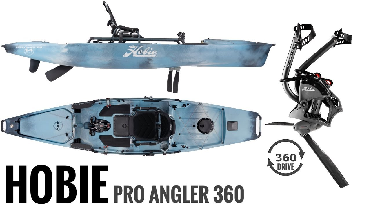 New Hobie Pro Angler 360 Series Kayak 360 Rotating Pedal Drive