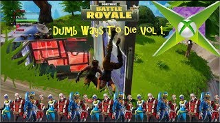Fortnite Battle Royale: Dumb Ways To Die vol.1 funny glitches, cool kills, trick shots.