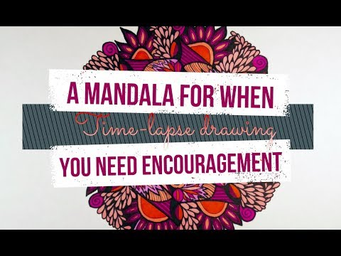 A Mandala For When You Need Encouragement