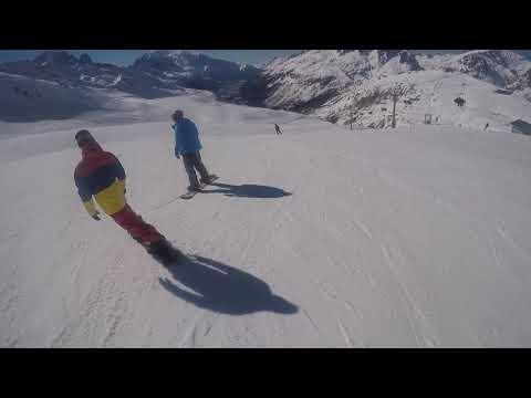 Snowboarding In Chamonix 2019.