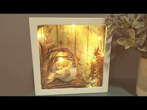 Dollar Tree Diy Led Light Up Shadow Box Super Cute Amp Easy