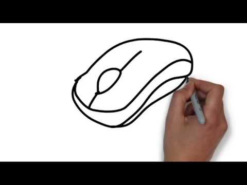 How to Draw a Computer Mouse Step by Step Learn Drawing ...