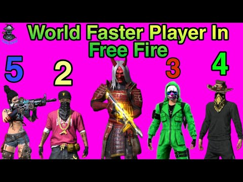 World Fastest Player In Free Fire | Fastest Players | Top 5 Best Player In Free Fire, B2k, M8N, BNL