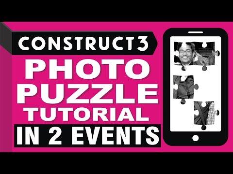 Photo Puzzle Game in 2 events Construct 3 Tutorial - Scirra com
