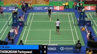 R64 - MS - LIN Dan vs Parinyawat THONGNUAM - 2014 Chinese Taipei Open (F 13-11)